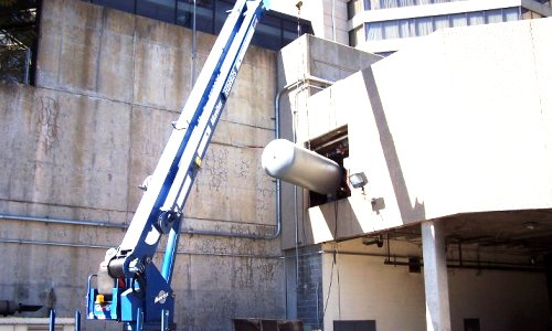 Crane Assisted Lifting and Precision Insertion of New Boiler